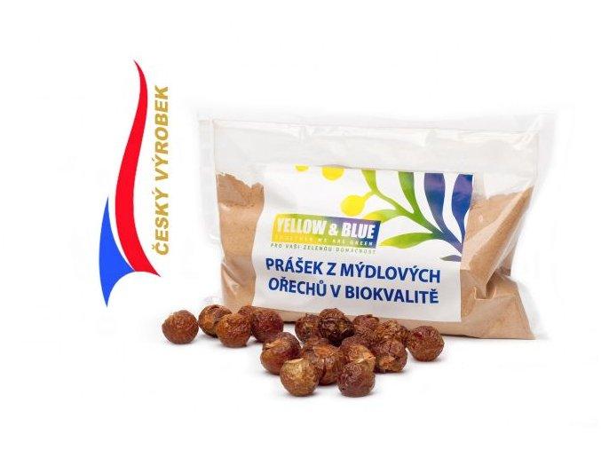 Prášek z mýdlových ořechů v biokvalitě sáček 100g