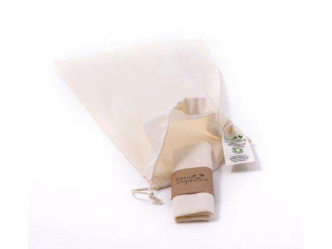 Plátěný sáček z biobavlny - malý