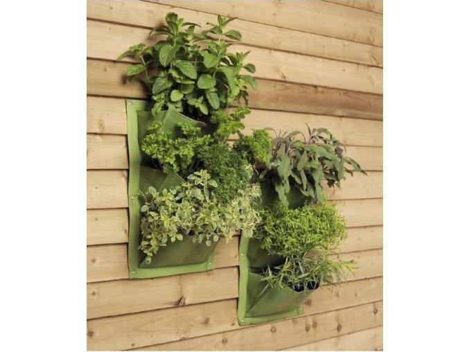 Verti-Plant ® - Látkové kapsy na pěstování - 2 ks (zelená)