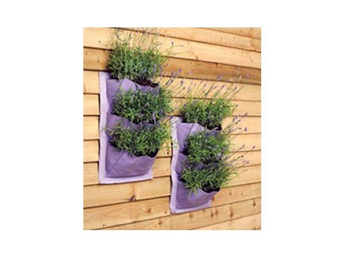 Verti-Plant ® - Látkové kapsy na pěstování - 2 ks (levandulová)