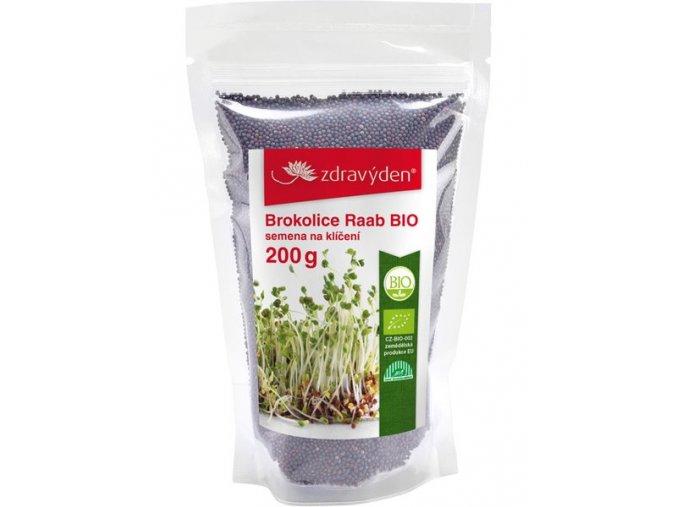 Brokolice Raab BIO - semena na klíčení 200g