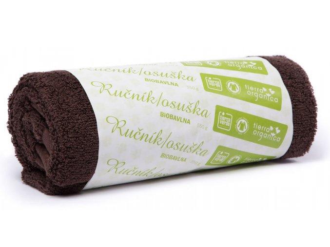 Ručník BIO BAVLNA 50x75 cm barva čokoláda