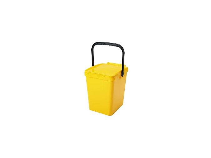 Odpadkový koš URBA 21 l - žlutý