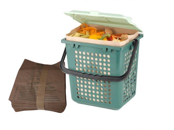 5844 start set biomat airbox se sadou sacku BioMat papir