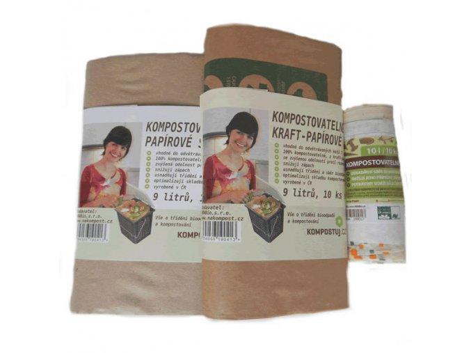 Kompostovatelné sáčky - Testovací sada (3 balení)