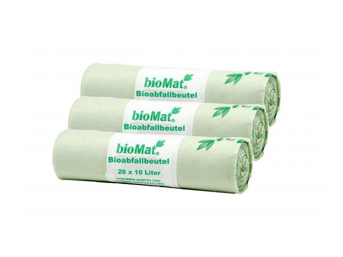 Sáčky bioMat® kompostovatelné s uchy 10 litrů (26ks)