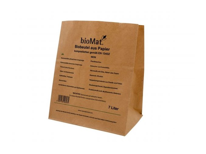 Sáčky bioMat® kraft-papírové kompostovatelné 7 litrů (40ks)