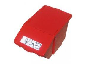 Plastová nádoba na tříděný odpad 45 l - červená