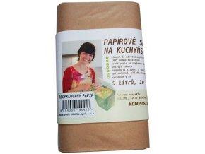 Papírové sáčky na kuchyňské zbytky (10 ks) ze 100% recykl. papíru