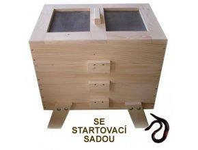 Dřevěný vermikompostér (BEZ povrchové úpravy) se startovací sadou