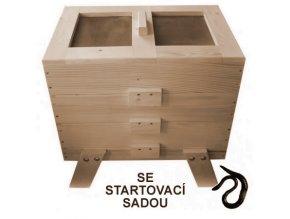 Dřevěný vermikompostér (S povrchovou úpravou) se startovací sadou