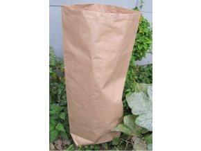 Kraft-papírový kompostovatelný pytel na zahradní odpad (90 litrů)