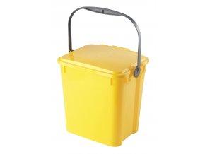 Odpadkový koš URBA 10 l - žlutý