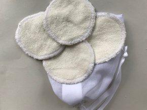 Odličovací tampony látkové - Bílé (12ks)