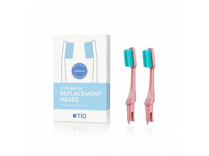 TIO nahradne hlavice zubna kefka ruzova