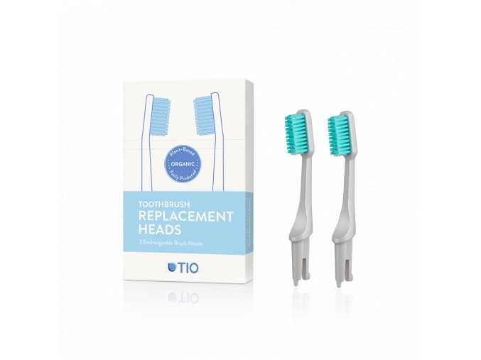 TIO nahradne hlavice zubna kefka siva