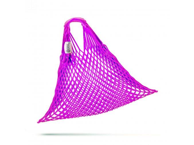 ekonetka pruzna bavlna fialova rozbalena 3000