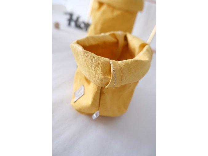 Vrecko z prateľného papiera malé žlté