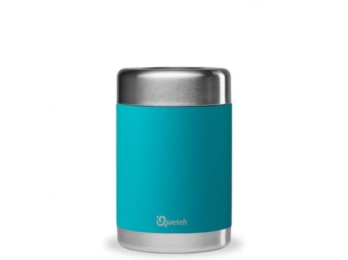 Nerezová termoska na jedlo Qwetch turquoise 500ml ekonetka 1