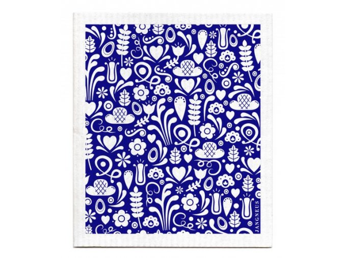 Blue Dala Dishcloth jangneus ekonetka