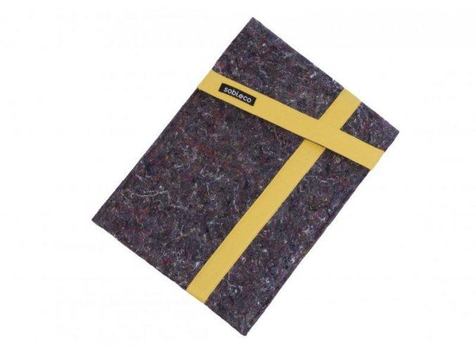 Obal na notebook z recyklované textílie žltý ekonetka