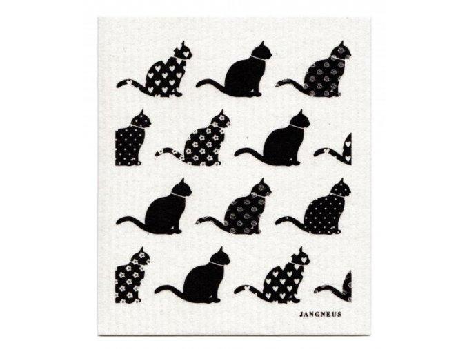 Hubka Jangneus čierne kočky ekonetka