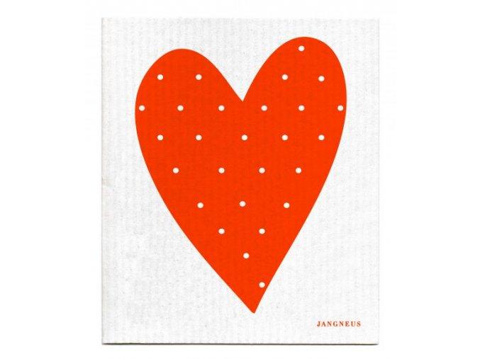 Hubka Jangneus oranžové srdce ekonetka