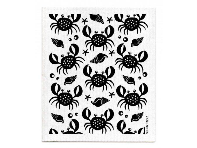 jangneus.com Black Crabs Dishcloth