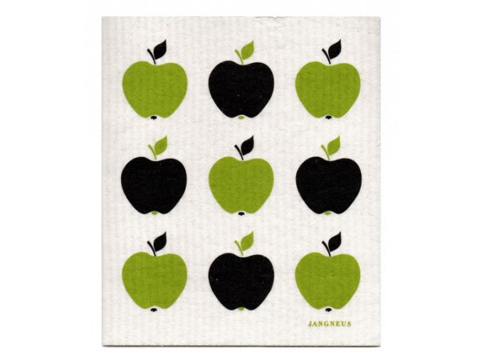 jangneus.com Green Apples Small Dishcloth LowRes