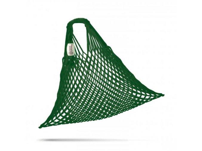 ceska sitovka super pruzna bavlna tmave zelena