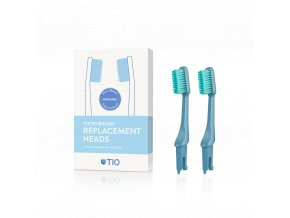 TIO nahradne hlavice zubna kefka modra