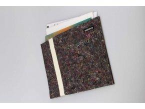 Obal na dokumenty z recyklované textílie biely 1