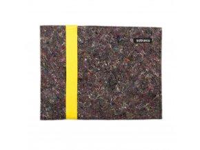 Obal na dokumenty z recyklovaných textílií žltý 1