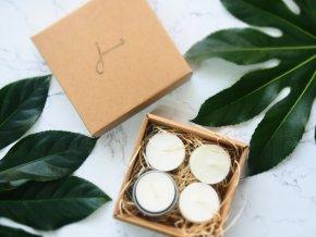 Čajové sviečky Jemnô bez odpadu s kovovým svitnikom ekonetka 1