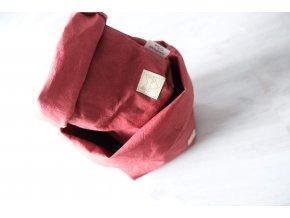 Vrecko z prateľného papiera malé Bordó 2