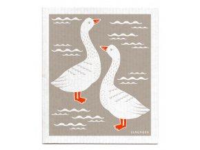 jangneus.com Grey Geese Dishcloth LowRes