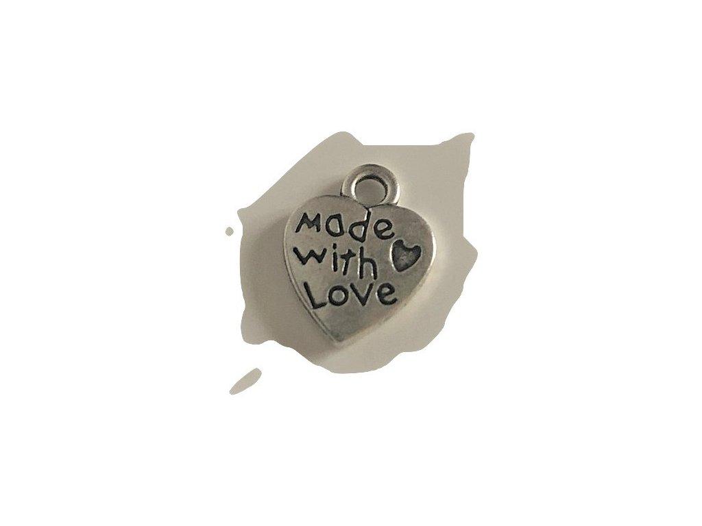 Made with love přívěšek dekorace
