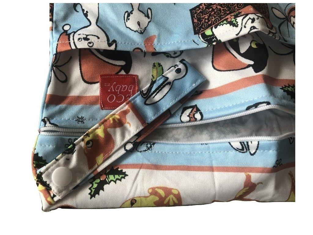 Pytel na pleny nepromokavá taška se zajíčkem 2 zipy