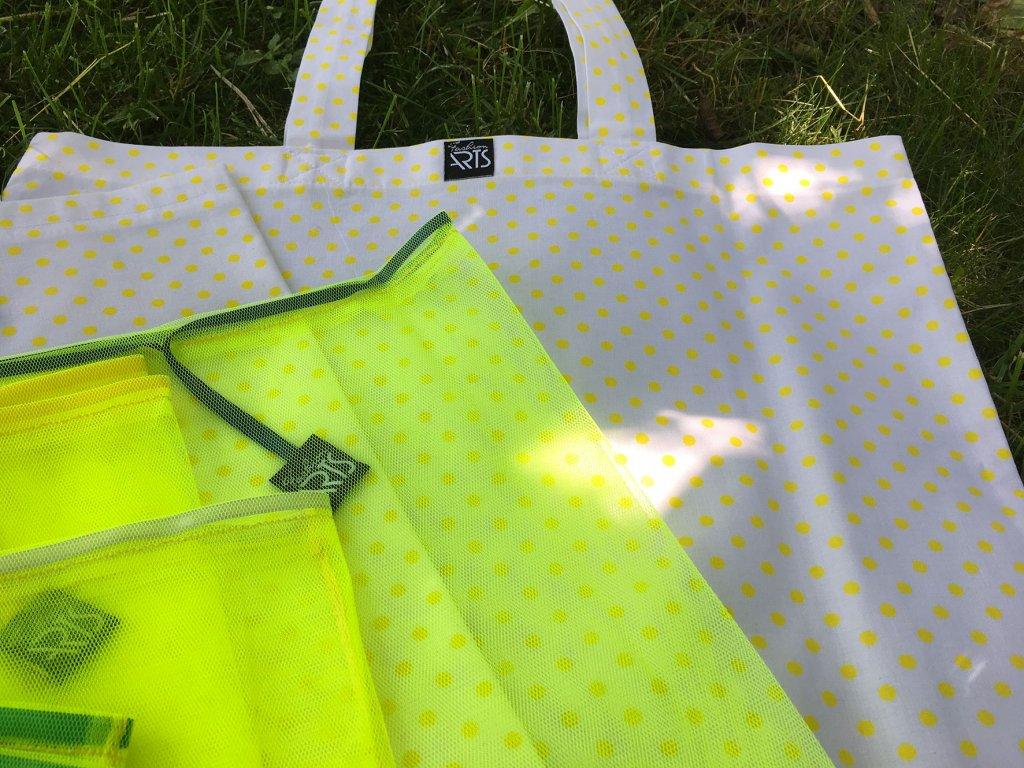 """Velký nákupní set s taškou """"Yellow dots"""""""