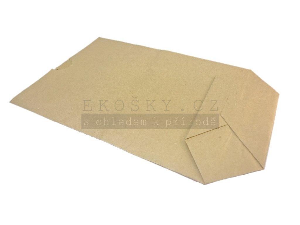 papírový sáček s křížovým dnem ekologický přírodní obal