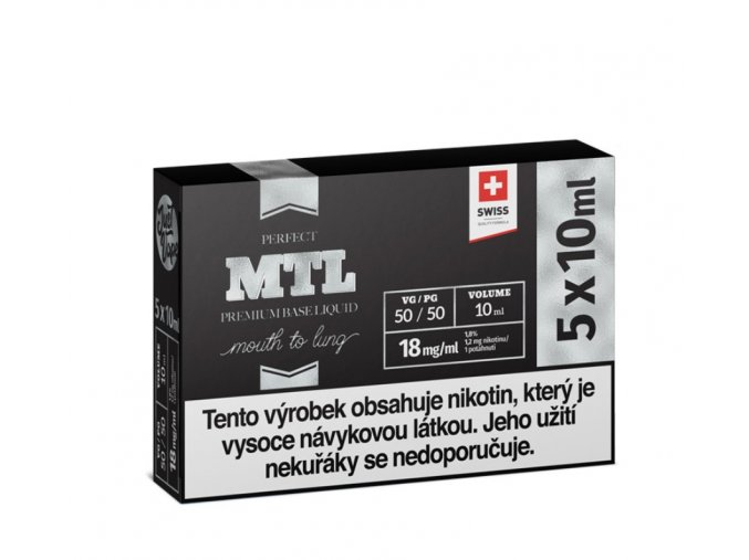 Booster báze JustVape MTL 5x10ml 18mg