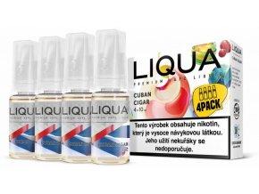 liqua cz elements 4pack cuban cigar tobacco 4x10ml kubansky doutnik