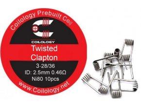 Coilology Twisted Clapton předmotané spirálky Ni80 0,46ohm 10ks