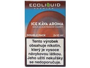 Liquid Ecoliquid Premium 2Pack Ice Coffee 2x10ml - 3mg
