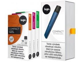 JTI Logic Compact Starter Kit elektronická cigareta 350mAh Blue
