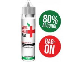 hand sanitizer swiss pharmax antibakterialni roztok 60ml 80 alkoholu