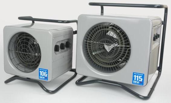 Servis teplovzdušných ventilátorů Devitemp a DELTA