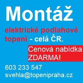 Elektrické podlahové topení - montáž