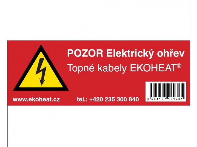 Výstražný štítek EKOHEAT CZ