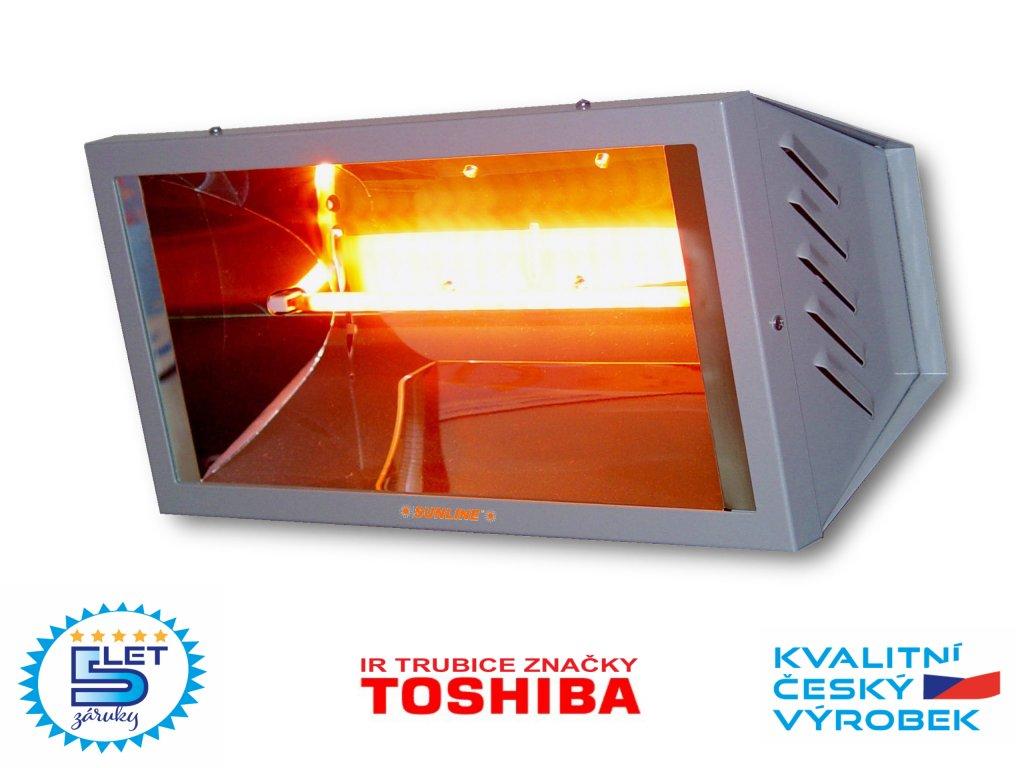 Elektrický infračervený zářič infrazářič SUNLINE SP1500 (stříbrný)